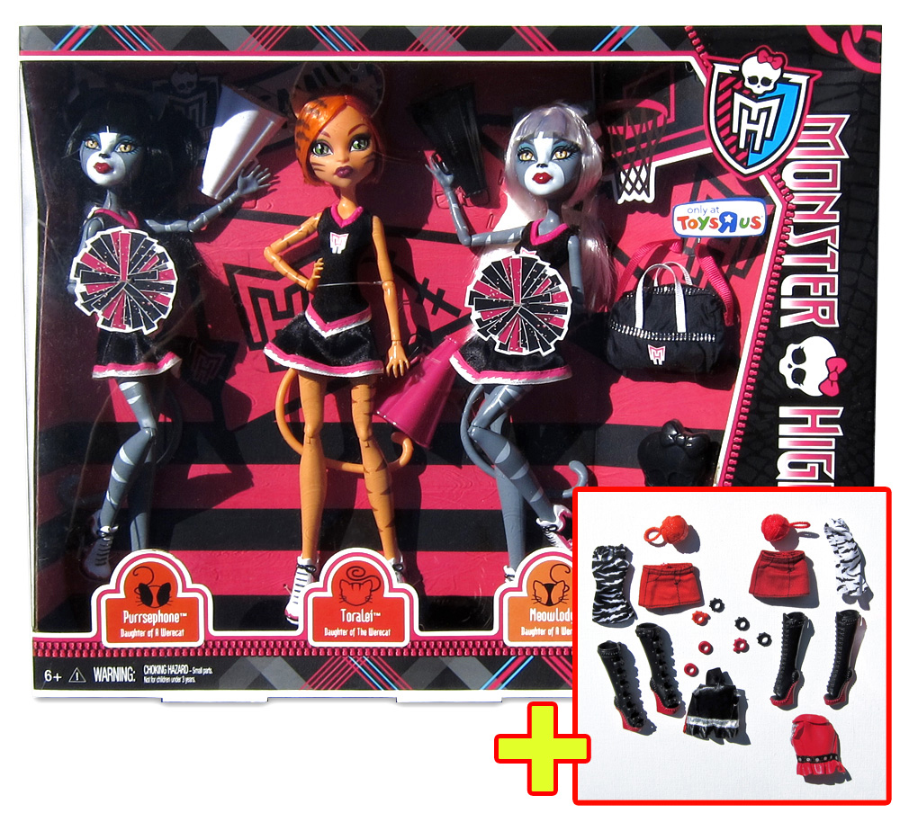 monster high dolls meowlody and purrsephone toysrus auto